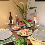 Grilled Prawns Table